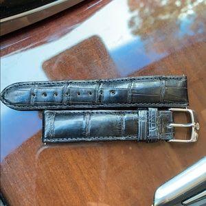 Michele Watch Band Alligator 18 Black